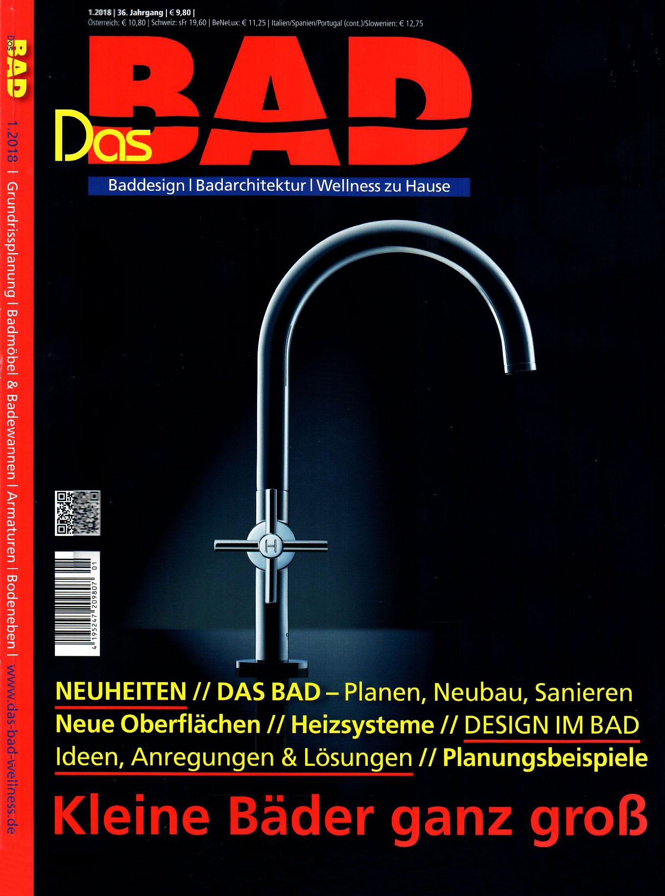 Böhm Badezimmer in der Zeitschrift – Das BAD – – Böhm Naturstein